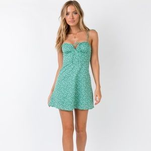 Princess Polly Green Floral Mini Dress